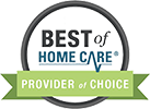 best of home care provider of choice badge