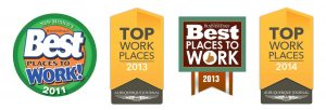 Best place to work badges