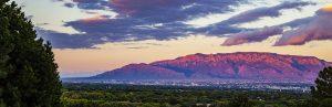 albuquerque new mexico skyline at sundown