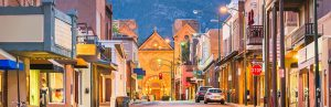 image of downtown Santa Fe