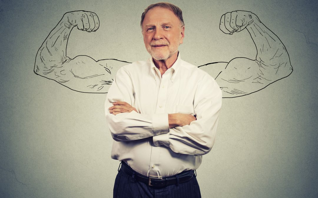 What causes loss of strength in the elderly