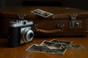image of 35mm camera and photos